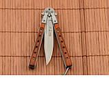 Нож балисонг из деревянной рукоятью + эксклюзивные фото , фото 2
