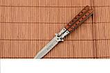 Нож балисонг из деревянной рукоятью + эксклюзивные фото , фото 4
