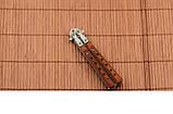 Нож балисонг из деревянной рукоятью + эксклюзивные фото , фото 6