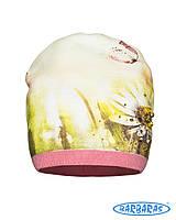 Трикотажная нарядная шапочка для девочек, BARBARAS Польша