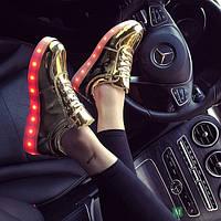 Женские  светящиеся LED - кроссовки Золото 41 размер, фото 1