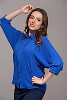 """Блуза """"летучая мышь"""" синяя"""