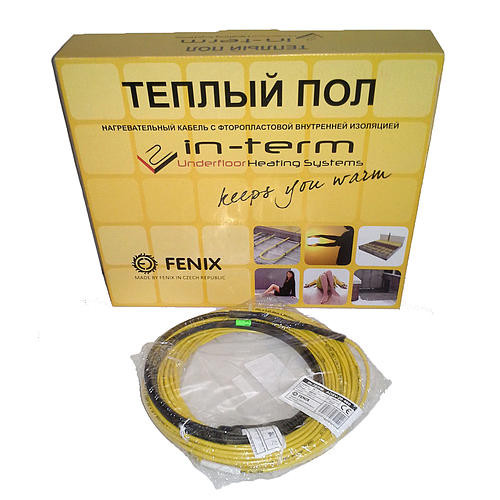 Нагревательный кабель In-Therm (Fenix, Чехия) 8 м. Теплый электрический пол