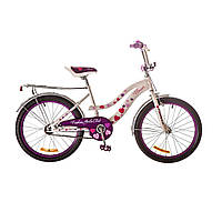 "Велосипед 20"" Formula FLOWER 14G рама-13"" St розовый с багажником зад St, с крылом St 2017"