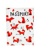 """Обложка для паспорта из эко-кожи """"Лисята"""""""