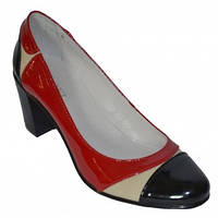 Туфли женские кожаные на каблуке 6см.