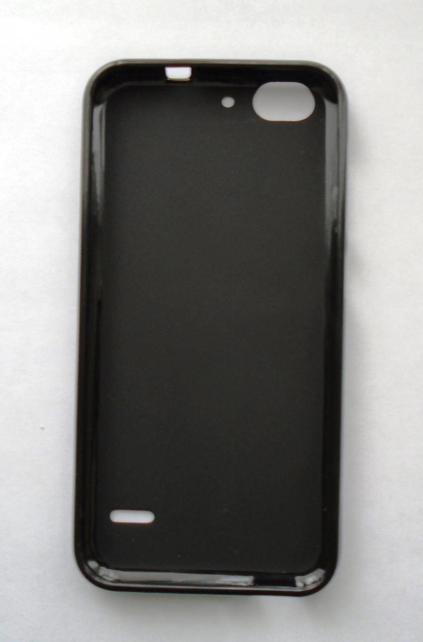 Чехол бампер силиконовый ZTE Blade S6 черный