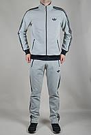 Мужской спортивный костюм Adidas Originals летний черно-серый