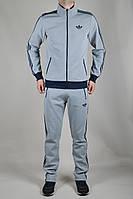 Мужской спортивный костюм Adidas Originals летний сине-серый