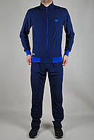 Мужской спортивный костюм Adidas летний темно-синий