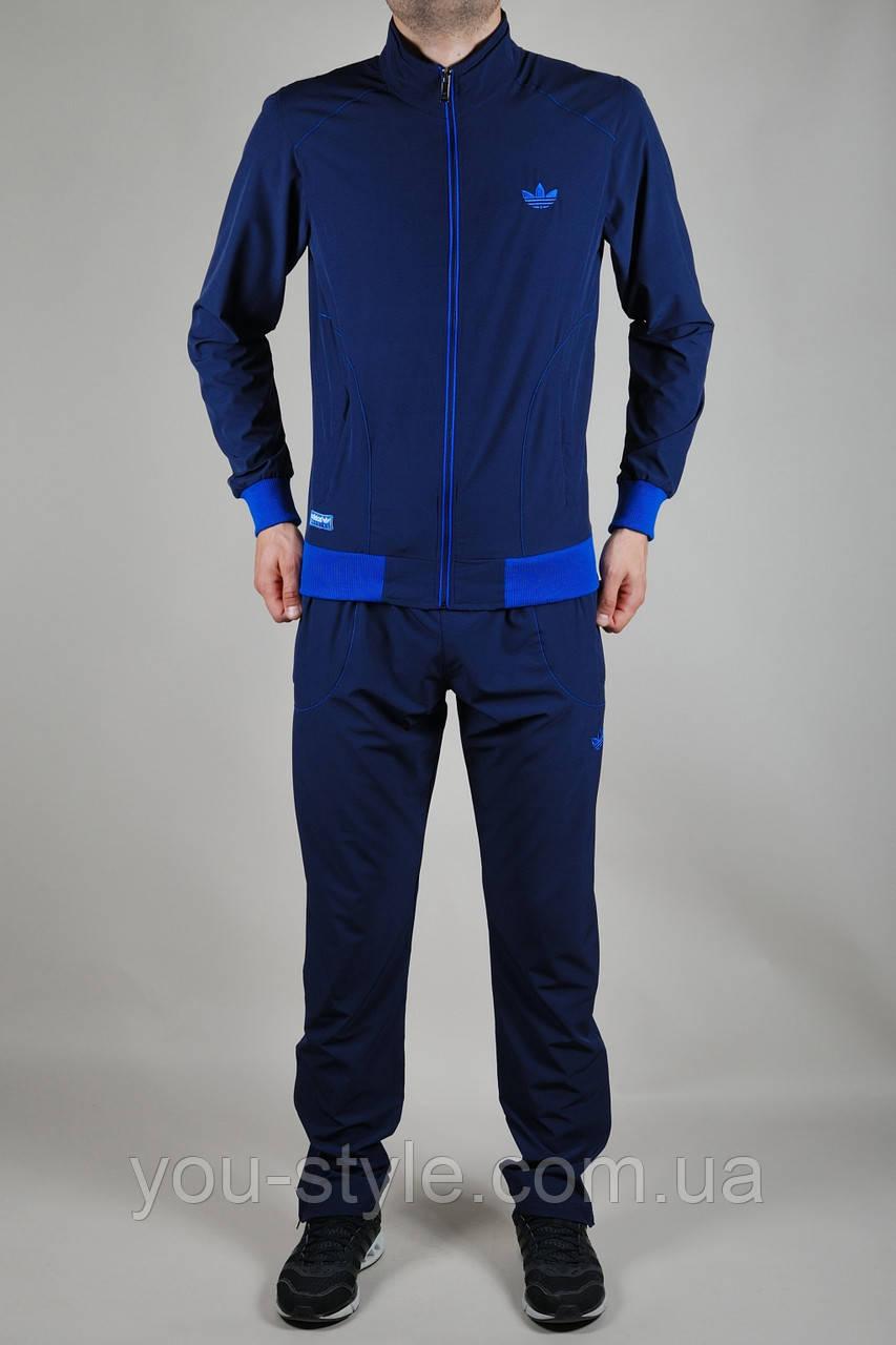 4577be59 Мужской спортивный костюм Adidas летний темно-синий - Интернет магазин