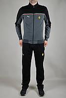 Мужской спортивный костюм Puma Ferrari Черный, серый