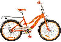"""Велосипед 20"""" Formula FLOWER 14G рама-13"""" St оранжевый с багажником зад St, с крылом St 2017"""