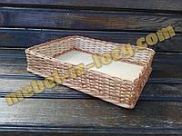 Плетеные торговые лотки, корзины 30*40 с высотой 8 см