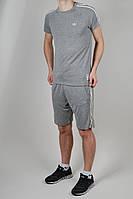 Летний спортивный костюм мужской Adidas Серый