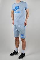 Летний спортивный костюм мужской Nike Голубой