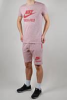 Летний спортивный костюм мужской Nike Красный