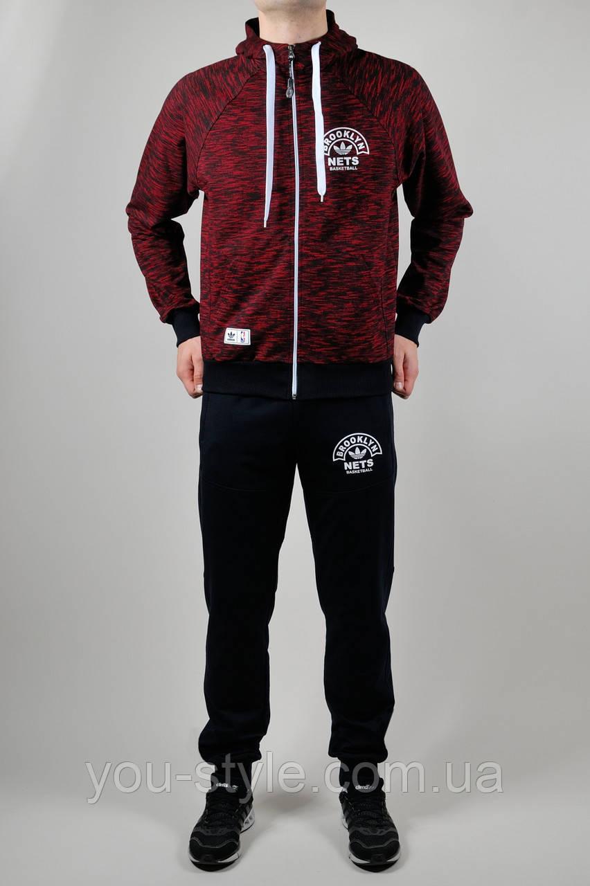 Спортивный костюм мужской Adidas Бордовый
