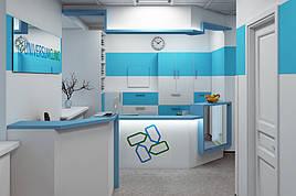 Мы выполнили разработку проекта реконструкции помещения под медицинский центр, площадью 270 м2. Специализация клиники - гинекология, урология, семейная медицина, ультразвуковая диагностика, невропатолог, кардиолог.