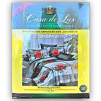 """Двуспальный комплект постельного белья """"Casa de Lux 100% хлопок"""" - Роза классик - 180*220 - Украина"""