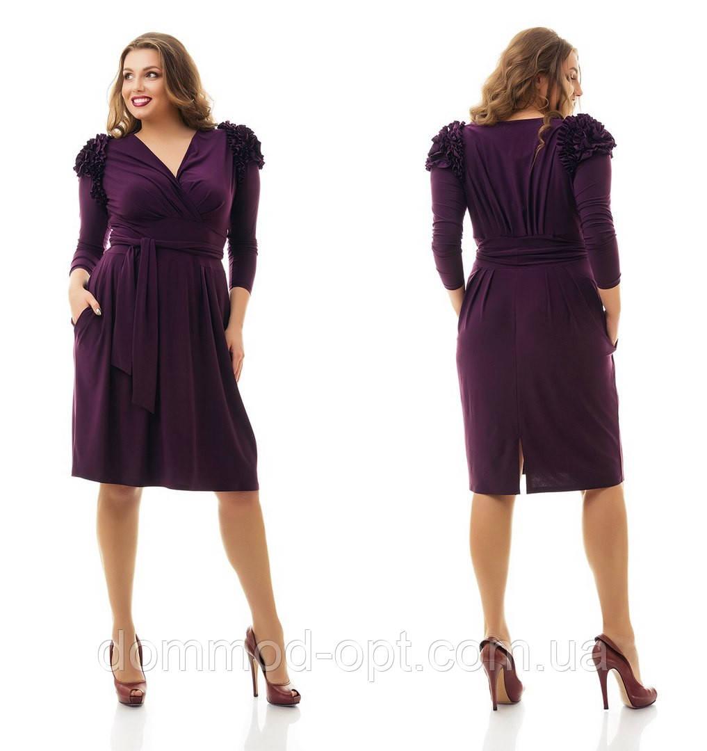 Женское красивое трикотажное платье больших размеров №860 48-62 р