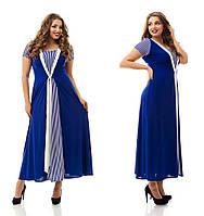 Женское повседневное трикотажное платье больших размеров №859 48-62 р