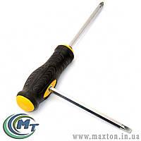Отвёртка с Т-образной ручкой насадка 130 мм PH1-PZ2 / PH2-SL6 MasterTool
