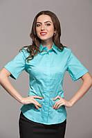 Рубашка с коротким рукавом зеленая
