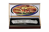 Нож складной Охотник подарочный, доступная цена, надежность, прочность и неприхотливость, фото 1