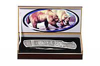 Нож складной Медведь подарочный, доступная цена, надежность + подарочная коробка
