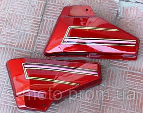 Боковая крышка Альфа (пара) красная (бардачки)