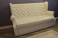 Мягкий диван для кухни по размеру (Белый)