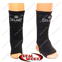 Защита для голени и стопы чулочного типа Zelart MA-1912 (полиэстер, черный)