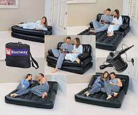 Надувной диван-трансформер BestWay 75038(5 в 1) с электронасосом(193х152х64 см)