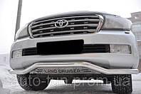 Защита переднего бампера (труба одинарная) для Toyota Land Cruiser 200 07-