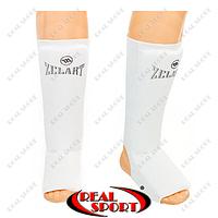 Защита для голени и стопы чулочного типа Zelart MA-0007 (полиэстер, белый)
