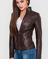 Коричневая кожаная куртка | 7016 sk