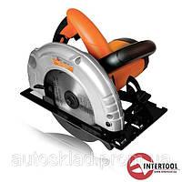 Пила дисковая Intertool WT-0614 STORM, 1200Вт, 4500об/мин, угол 90-45,  диск 20мм*185мм