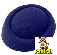 Основа-заготовка для шляпки, вуалетки таблетка из фетра Синяя 16 см