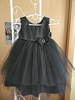 Платье фатиновое черное