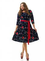 Женское Платье   больших размеров 847 (48-74)