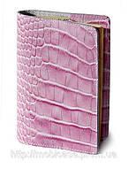 Обложка для паспорта VIP (KROCO розовый), фото 1
