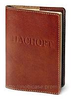 """Обложка для паспорта VIP (коричневый) тиснение """"ПАСПОРТ"""", фото 1"""