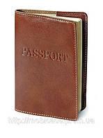 """Обложка для паспорта VIP (коричневый) тиснение """"PASSPORT"""", фото 1"""
