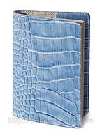 Обложка для паспорта VIP (KROCO голубой), фото 1
