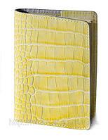 Обложка для паспорта VIP (KROCO желтый), фото 1