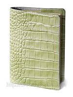 Обложка для паспорта VIP (KROCO зелёный), фото 1
