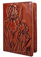 """Обложка для паспорта VIP (хамелеон коричневый) тиснение """"IRIS"""", фото 1"""