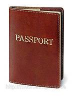 """Обложка для паспорта VIP (коричневый) тиснение золотом """"PASSPORT"""", фото 1"""