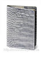 Обложка для паспорта VIP (KROCO серый), фото 1